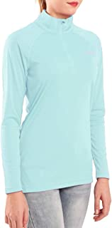 Women's 1/4 Zip Pullover UPF 50+ UV Sun Protection Long Sleeve Shirts Outdoor Running Athletic Shirts