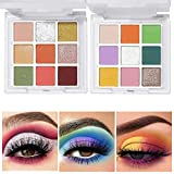 Eyeshadow Palette, 2 Palettes Matte Shimmer Eyeshadows High Pigmented Colorful Eye Shadow Powder Creamy Texture Easy To Blend Long Lasting Makeup Pallet