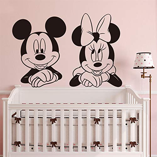 Minnie Mouse autocollant mural Nouvelle souris mignonne Minnie Baby Nursery Cartoon spécial Animal Wall Decal, Mur facile
