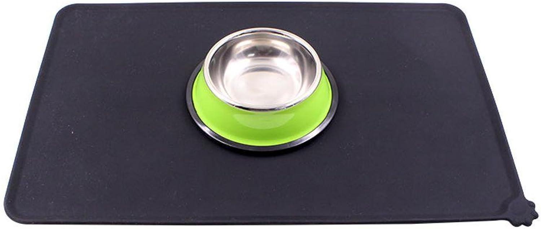 BiuTeFang Pet Bolster Dog Bed Comfort Antibite waterproof pet silicone Meal mat dog Mat Dog Mat Bowl mat