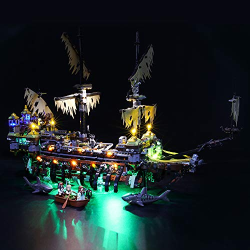 BRIKSMAX Kit de Iluminación Led para Lego Piratas del Caribe Caribe Silenciosa Mary,Compatible con Ladrillos de Construcción Lego Modelo 71042, Juego de Legos no Incluido
