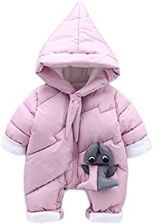 Fairy Baby Toddler Unisex Cartoon Animal Romper Padded Outwear Hood Jumpsuit Snowsuit