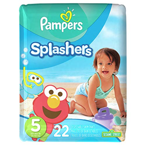 Price comparison product image Pampers Splashers Disposable Swim Diapers,  Size 5,  22 Count,  JUMBO