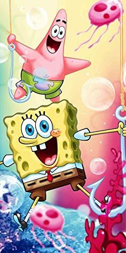 Jerry Fabrics Sponge Bob Schwammkopf Duschtuch Handtuch 70 x 140 cm Freunde 012