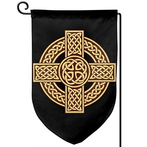 Celtic Cross Irish Scottish Garden Flag Indoor Outdoor Flag Demonstration Flag 12.5x18 Inches Fillet