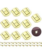 """""""10 Stuks Metalen Kliksluiting Hasps Latch Lock Box Lock Antiek Sluitingen Van Houten Kisten Antiek Kistslot voor Juwelendoosjes Geschenkdozen Wijnkisten en Goudzakken (31 * 24mm)"""""""