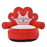 P Prettyia Silla para Niños Sillón Suave Sofá Asiento Muebles de Dormitorio Sala de Estar Balcón Juguete de Peluche - # 1 Rojo