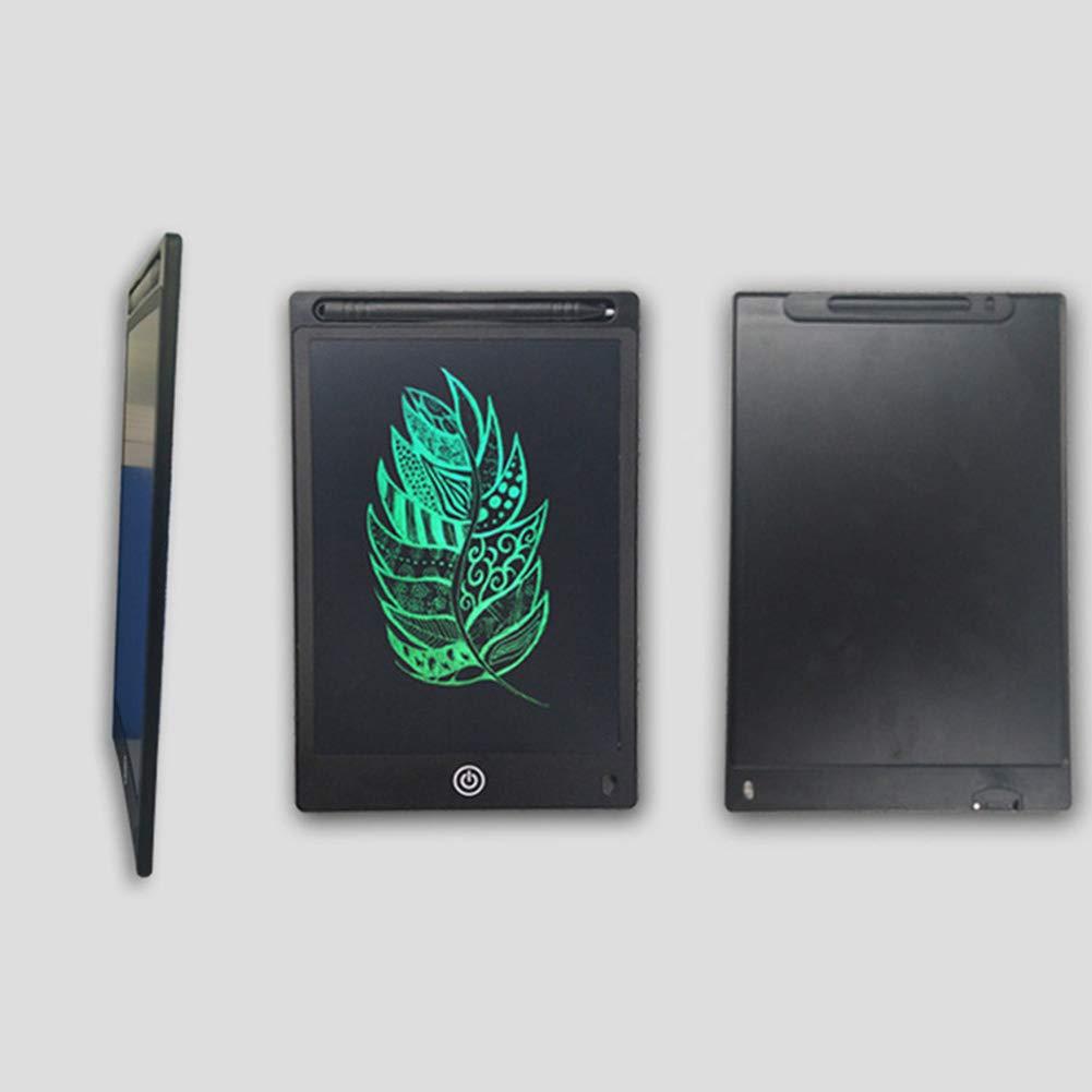 Tableta de escritura LCD de 12 pulgadas con cerradura DishyKooker Tableta de dibujo electr/ónico para ni/ños color verde