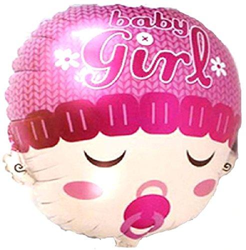 Mondial-fete - Ballon alu. tête girl rose 58 cm