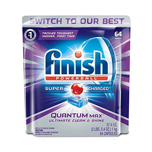 Our #3 Pick is the Finish Quantum Max Powerball Dishwasher Detergent Tablets