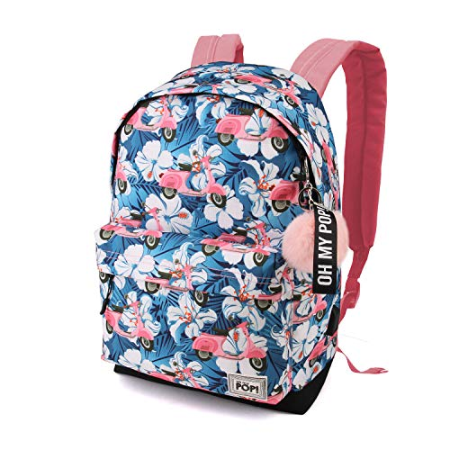 Oh My Pop! Pop! Pink Scooter-zaino Hs Rucksack, 42 cm, 23 liters, Mehrfarbig (Multicolour)