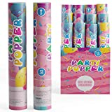 TUR Party Supplies Confetti Cannons Party Poppers (12 Pack)   Multicolor Confetti   Launches Up to 25ft   Giant (12 in)   Confetti Poppers for Parties, Birthdays, Weddings, and More