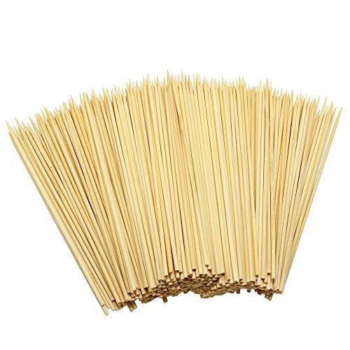 Hysagtek Holz-Bambusspieße / Stäbchen für Grill, Obst, Schokoladenbrunnen, Fondue, 15cm, 400 Stück