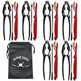 Seafood CrackersTools Nutcrackers Set, Crab Nut Lobster Crackers Tools and Forks Set Including 6 Crab Crackers, 6 Lobster Shellers and 6 Forks