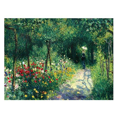 Bilderwelten Magnettafel - Auguste Renoir - Frauen im Garten - Memoboard Pinnwand 30 x 40cm
