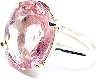 OMG Incredibile anello in argento e oro 14k (artigli) con spettacolare Morganite ovale rosa naturale che misura 10,33 cara...