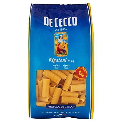 De Cecco - Rigatoni N.24, 1 Kg - [confezione da 6]