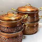 Cacerola hecha a mano de cobre de alta calidad ollas de cobre...