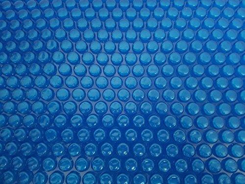 OKU Solarfolie 400µm Achtform 6,25 x 3,60m Poolabdeckung Schwimmbadfolie Luftpolsterabdeckung