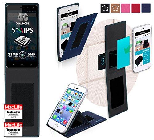 Hülle für Allview E4 Lite Tasche Cover Hülle Bumper | Blau | Testsieger