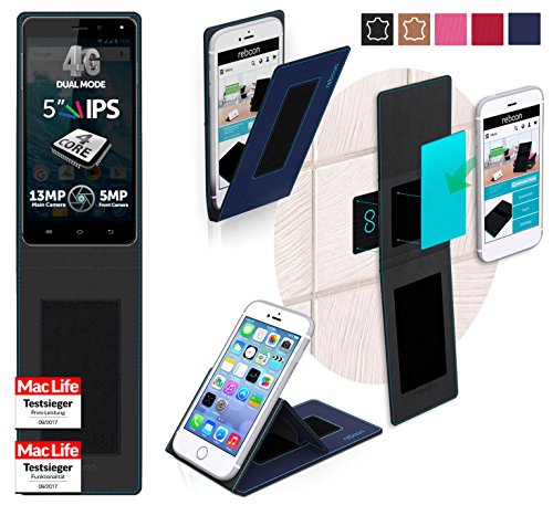 reboon Hülle für Allview E4 Lite Tasche Cover Case Bumper | Blau | Testsieger