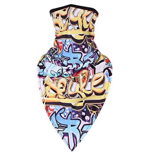 Lazzboy Multifunktionstuch - Nahtloses Halstuch, Schlauchtuch, Schal, Kopftuch, Stirnband, Unisex, Fahren Im Freien 3d-druck Schnelltrocknend Winddicht(L)