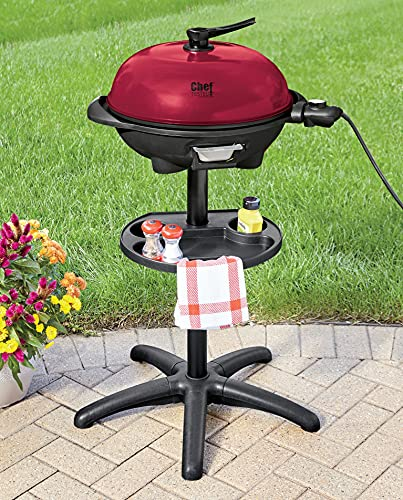 Chef Tested Indoor/Outdoor Electric Grill by Montgomery Ward, Red
