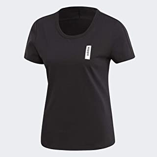adidas Women's W BRILLIANT BASICS T-Shirt, Black, Small, 8-10