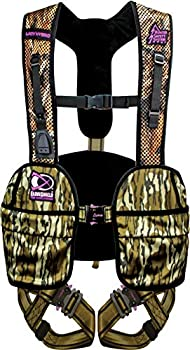 Hunter Safety System Lady Hybrid Treestand Safety Harness with ElimiShield Scent Control Technology Mossy Oak Medium/Large