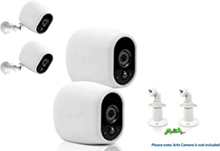 Sully Accessories Kit for Arlo HD Camera w/ (2pcs White) Arlo HD Skins and (2pcs) 10cm Arlo Camera Mount White Arlo Netgear Security Wireless Silicone Covers Skins Case Outdoors Wall Mounts