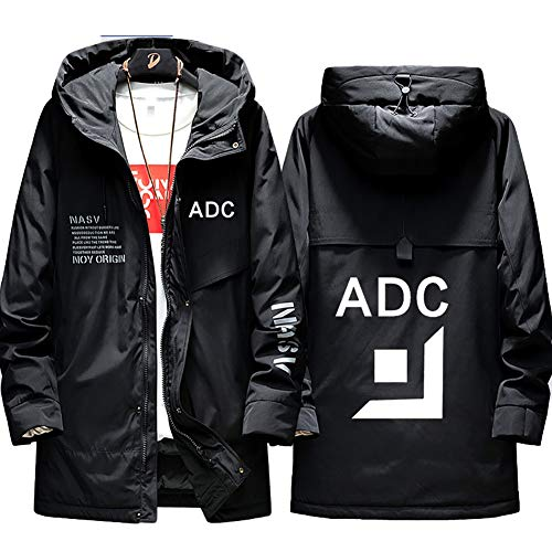 73HA73 Herren Warme Winterjacke LOL League of Legends Esports ADC Uniform Kapuzen Coat Hoodie Komfortable Übergangsjacke Sweatshirt Jacken (No Shirt),Black,M(165-175cm)