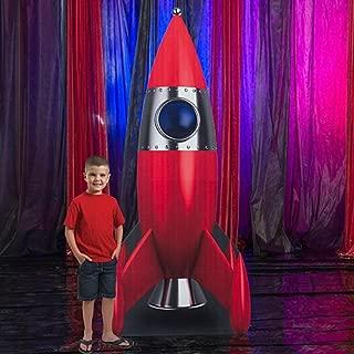rocket cardboard cutout