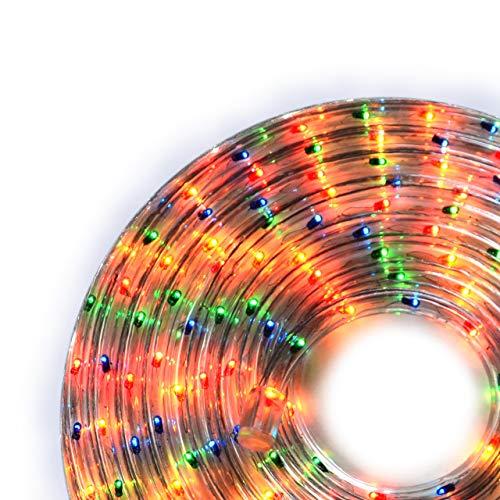 Nipach GmbH 20m Microlichter Lichterschlauch Lichtschlauch bunt – Innen- und Außenbereich – Licht-Dekoration für Garten Fest Weihnachten Hochzeit Gesamtlänge ca. 21,50 m