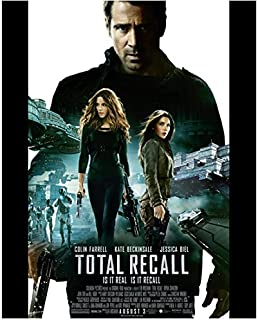 Colin Farrell 8 inch x 10 inch Photograph Total Recall (2012) w/Cast Movie Poster kn