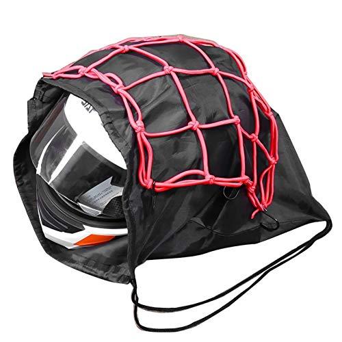 Moto de la Motocicleta Casco Protector Neto y Cascos Tapa Protege el Bolso Draw Bolsillo Baloncesto Bolsa de 47x45cm No Incluye Casco (Color : 1)