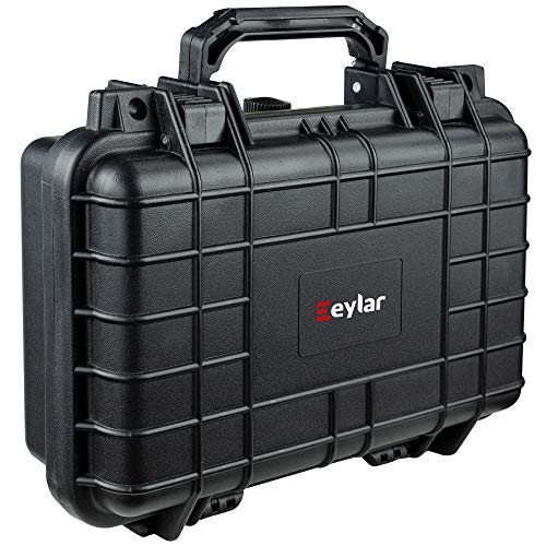Eylar Tactical Hard Gun Case Water & Shock Proof with Foam TSA Approved 11.6 Inch 8.3 Inch 3.8 Inch (Black)