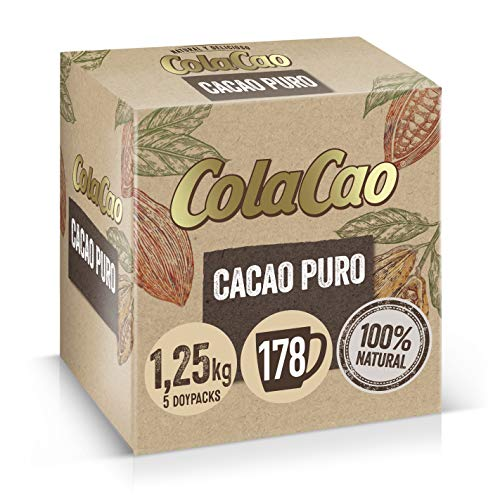 ColaCao Puro 100%: Cacao Natural y Sin Aditivos - 1,25kg