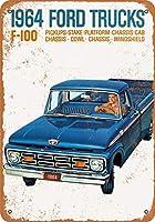 金属看板1964フォードF - 100トラック屋外屋内壁パネルホーム装飾