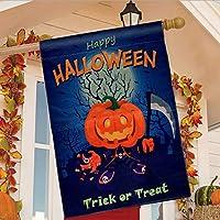 TGOOD Trick or Treat Halloween Fall Garden Flag