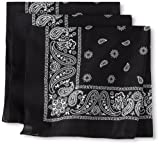 Levi's Men's 100% Cotton Multi-Purpose Bandana Gift Sets  Headband, Wrap, Protective Coverage
