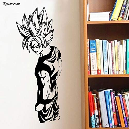 PSpXU Cartoon Goku Vinyl Wandtattoo Cartoon Goku Anime Art Wandaufkleber Dekorieren Kinderzimmer für Kinderzimmer57x145cm