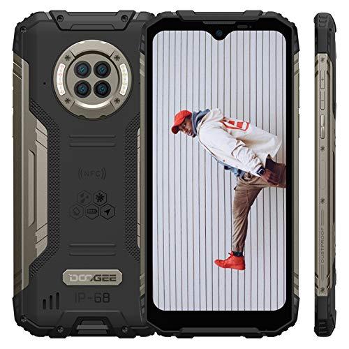 DOOGEE S96 PRO (2020) Outdoor Handy,8GB 128GB IR Nachtsicht Helio G90,48MP AI Quad Kamera 6.22 Zoll Smartphone Ohne Vertrag,Android 10 IP68 Wasserdichter, 6350 mAh Kabellose Ladung, NFC GPS (Schwarz)