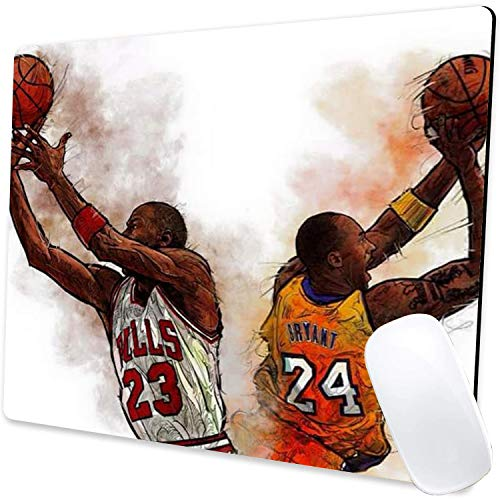 Gaming Mouse Pad,Kobe&Jordan 002 Mouse Pad Non-Slip Rubber Base Mouse Pads for Computers Laptop Office,9.5'x7.9'x0.12' Inch(240mm x 200mm x 3mm)