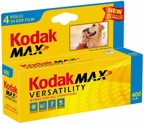 Kodak GC135-24-4H Gold Max 400 Speed 24 Exposure 35mm Film - 4 Pack