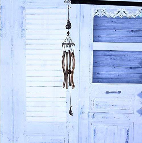 Wind Chimes Dream Catcher Gift Good Dreams2 pcs / lot Wind Chime, Vintage 6 Tubes Garden Yard Decoración para el hogar Gift Wind Chimes, Velero y forma de elefante Wind Chime Decoraciones colgantes P