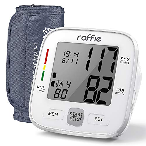 """Blood Pressure Monitor-Roffie Upper Arm Blood Pressure Machine for Home Use, BP Machine Pulse Monitoring with 8.6""""-16.5""""(22-42cm) Large Cuff-90 Sets Memory-Orange Backlight Display"""