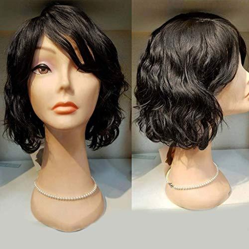 LUGEUK Perruque 1 PCS Lady Cheveux Frisés Courts Rose Net Wig Couvre-Chef 35cm