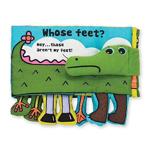 Melissa & Doug Soft Activity Book - Whose Feet, The Original (Developmental Toys, Easy-to-Read Text, Machine Washable, Great Gift for Girls and Boys - Best for Babies & Toddlers, All Ages)