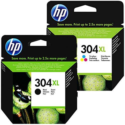 Cartuchos HP Envy 5030 | Cartuchos de tinta originales tamaño XL en negro y tricolor, paquete de 2 - (100 / 120 impresiones