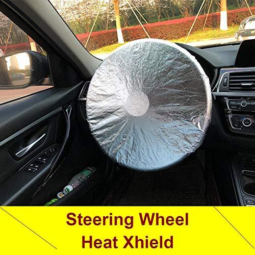 househome Cubierta del Parasol del Volante del Coche, Protección UV Universal Y Reflector De Calor, Protección Solar para La Mayoría De Los Automóviles, SUV, Camiones